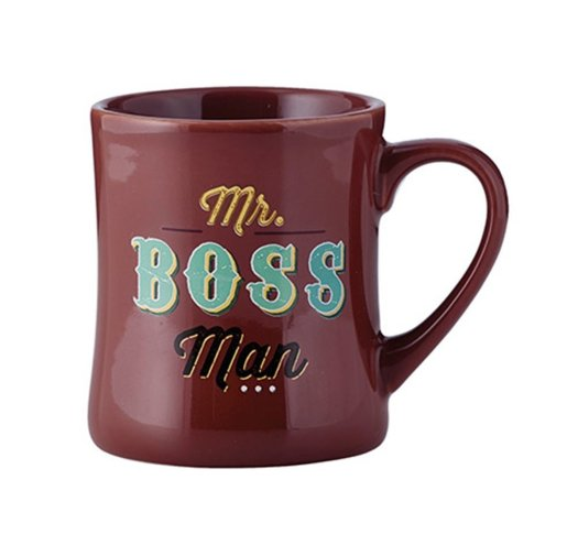 boss man coffee mug