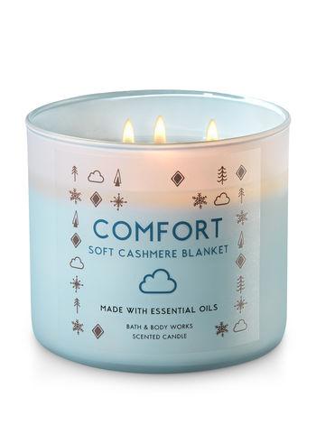 comfort soft cashmere blanket candle