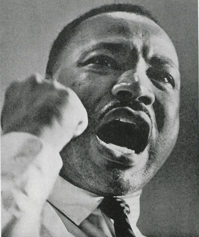 dr. king giving a speech